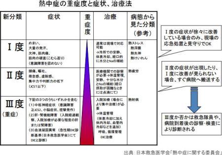 熱中症に関する委員会の推奨する分類
